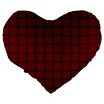 Burgundy Weave 19  Premium Heart Shape Cushion Back