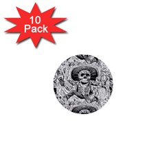 Calavera Oaxaquea By José Guadalupe Posada 1903 1  Mini Button (10 pack)