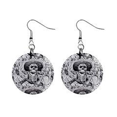Calavera Oaxaquea By José Guadalupe Posada 1903 Mini Button Earrings