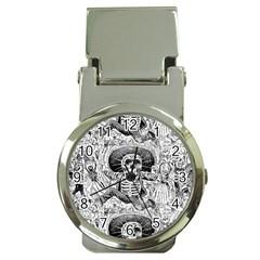 Calavera Oaxaquea By José Guadalupe Posada 1903 Money Clip with Watch