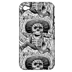 Calavera Oaxaquea By José Guadalupe Posada 1903 Apple iPhone 4/4S Hardshell Case (PC+Silicone)