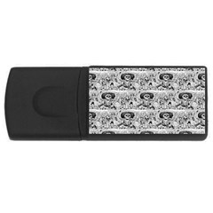 Calavera Oaxaquena by José Guadalupe Posada 1903 USB Flash Drive Rectangular (2 GB)