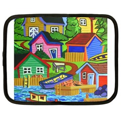 Three Boats & A Fish Table Netbook Case (XXL)