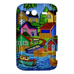 Three Boats & A Fish Table HTC Wildfire S A510e Hardshell Case