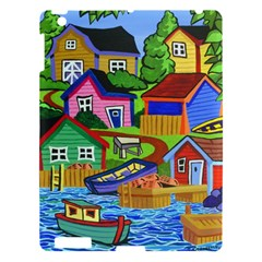 Three Boats & A Fish Table Apple Ipad 3/4 Hardshell Case
