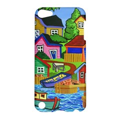 Three Boats & A Fish Table Apple Ipod Touch 5 Hardshell Case