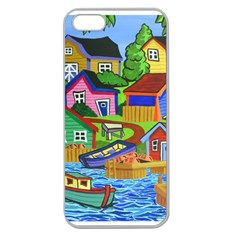 Three Boats & A Fish Table Apple Seamless Iphone 5 Case (clear)