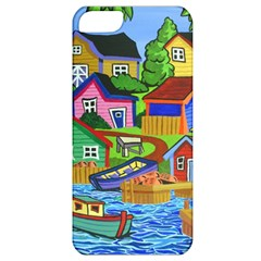Three Boats & A Fish Table Apple iPhone 5 Classic Hardshell Case