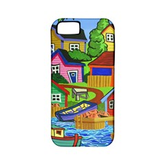 Three Boats & A Fish Table Apple iPhone 5 Classic Hardshell Case (PC+Silicone)