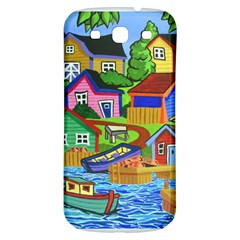 Three Boats & A Fish Table Samsung Galaxy S3 S Iii Classic Hardshell Back Case