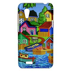 Three Boats & A Fish Table HTC Desire VT T328T Hardshell Case