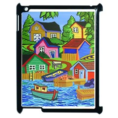 Three Boats & A Fish Table Apple iPad 2 Case (Black)