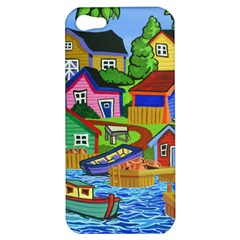 Three Boats & A Fish Table Apple Iphone 5 Hardshell Case