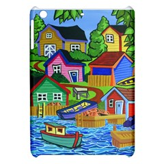 Three Boats & A Fish Table Apple iPad Mini Hardshell Case