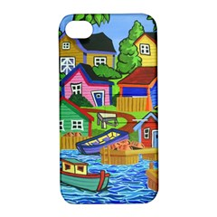 Three Boats & A Fish Table Apple iPhone 4/4S Hardshell Case with Stand