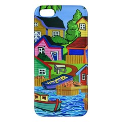 Three Boats & A Fish Table iPhone 5 Premium Hardshell Case