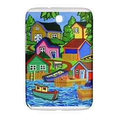 Three Boats & A Fish Table Samsung Galaxy Note 8 0 N5100 Hardshell Case