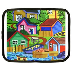 Three Boats & A Fish Table Netbook Case (XL)