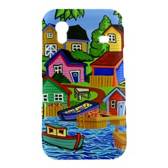 Three Boats & A Fish Table Samsung Galaxy Ace S5830 Hardshell Case