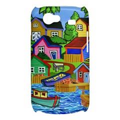 Three Boats & A Fish Table Samsung Galaxy Nexus S i9020 Hardshell Case