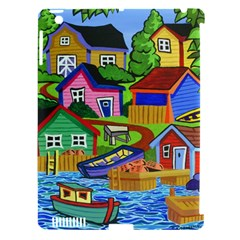 Three Boats & A Fish Table Apple iPad 3/4 Hardshell Case (Compatible with Smart Cover)