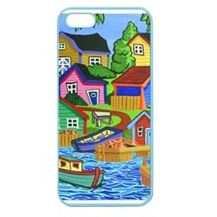 Three Boats & A Fish Table Apple Seamless iPhone 5 Case (Color)