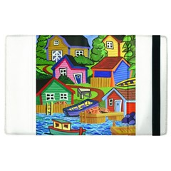 Three Boats & A Fish Table Apple Ipad 2 Flip Case