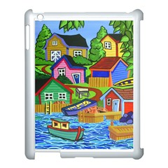 Three Boats & A Fish Table Apple Ipad 3/4 Case (white)