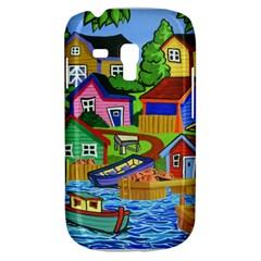Three Boats & A Fish Table Samsung Galaxy S3 MINI I8190 Hardshell Case