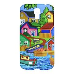Three Boats & A Fish Table Samsung Galaxy S4 I9500 Hardshell Case