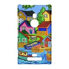 Three Boats & A Fish Table Nokia Lumia 925 Hardshell Case