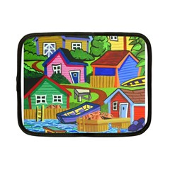 Three Boats & A Fish Table Netbook Case (small)