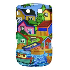 Three Boats & A Fish Table BlackBerry Torch 9800 9810 Hardshell Case