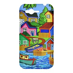 Three Boats & A Fish Table HTC Rhyme Hardshell Case