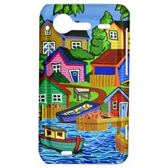 Three Boats & A Fish Table HTC Incredible S Hardshell Case