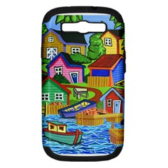 Three Boats & A Fish Table Samsung Galaxy S Iii Hardshell Case (pc+silicone)