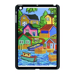 Three Boats & A Fish Table Apple iPad Mini Case (Black)