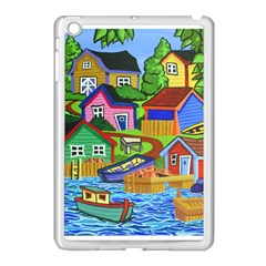 Three Boats & A Fish Table Apple iPad Mini Case (White)