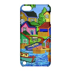 Three Boats & A Fish Table Apple iPod Touch 5 Hardshell Case with Stand