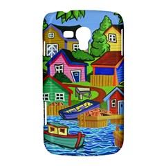 Three Boats & A Fish Table Samsung Galaxy Duos I8262 Hardshell Case
