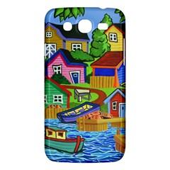 Three Boats & A Fish Table Samsung Galaxy Mega 5.8 I9152 Hardshell Case