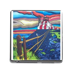 Cape Bonavista Lighthouse Memory Card Reader with Storage (Square)