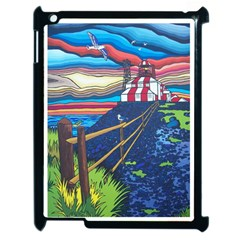 Cape Bonavista Lighthouse Apple iPad 2 Case (Black)