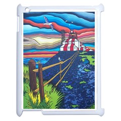 Cape Bonavista Lighthouse Apple iPad 2 Case (White)