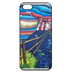 Cape Bonavista Lighthouse Apple iPhone 5 Seamless Case (Black)