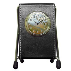 Way Above The Mountains Stationery Holder Clock