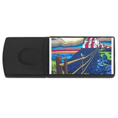 Cape Bonavista Lighthouse 2GB USB Flash Drive (Rectangle)