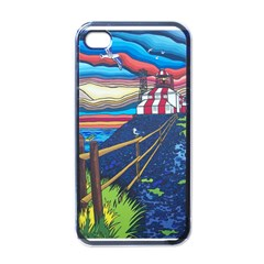 Cape Bonavista Lighthouse Apple Iphone 4 Case (black)