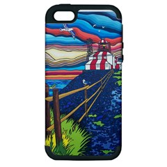 Cape Bonavista Lighthouse Apple iPhone 5 Hardshell Case (PC+Silicone)