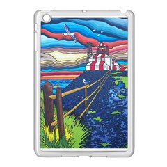 Cape Bonavista Lighthouse Apple iPad Mini Case (White)
